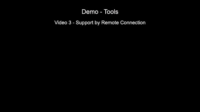Support by Remote Connection